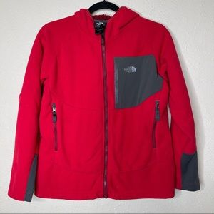 The North Face Red Chimborazo Fleece Hooded Jacket